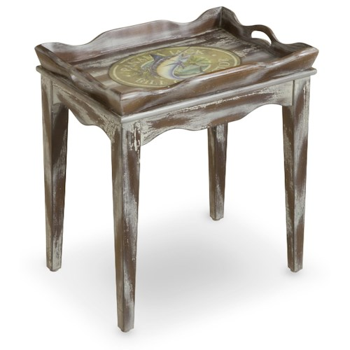 Morris Home Furnishings Accent Tables High Tide Tray Top Accent Table