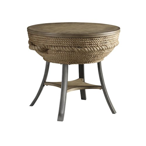 Morris Home Furnishings Accent Tables Crescent Key End Table
