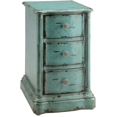 Morris Home Furnishings Accent Tables Chair Side Table w/ 3 Drawers