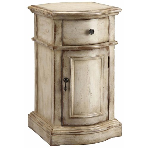 Stein World Accent Tables Petite End Table Cabinet with Door and Drawer