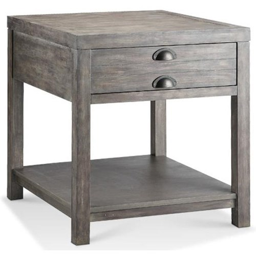 Morris Home Furnishings Accent Tables Bridgeport Rectangle Side Table w/ Drawer