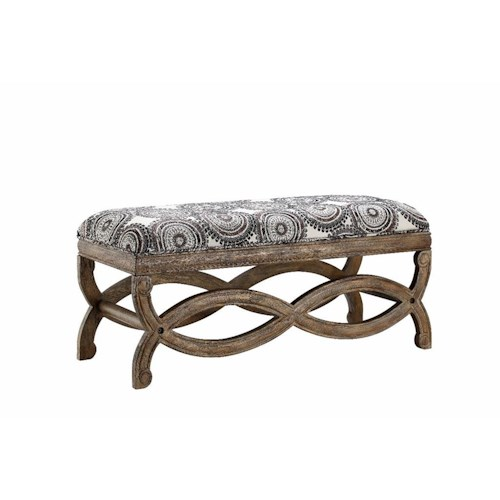 Stein World Benches Cassin Accent Bench with Incognito Quartz Fabric