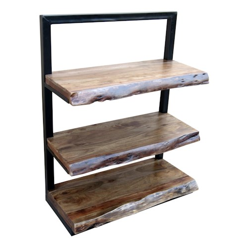 Morris Home Furnishings Bookcases Climber 3-Shelf Floating Bookcase