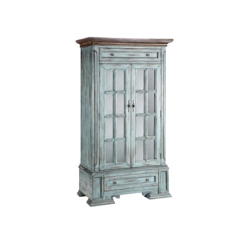 Morris Home Furnishings Cabinets Tall Cabinet with 2 Doors and 2 Drawers and 3 Shelves