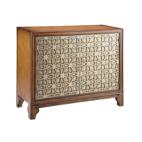 Morris Home Furnishings Cabinets Accent Cabinet with 2 Doors and Raised Door Pattern