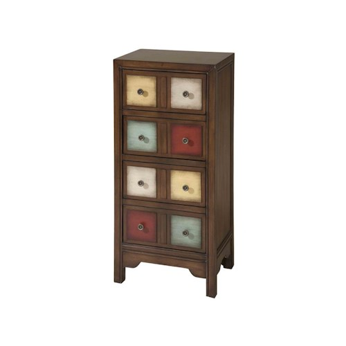 Morris Home Furnishings Cabinets 4-Drawer Multi-Colored Cabinet