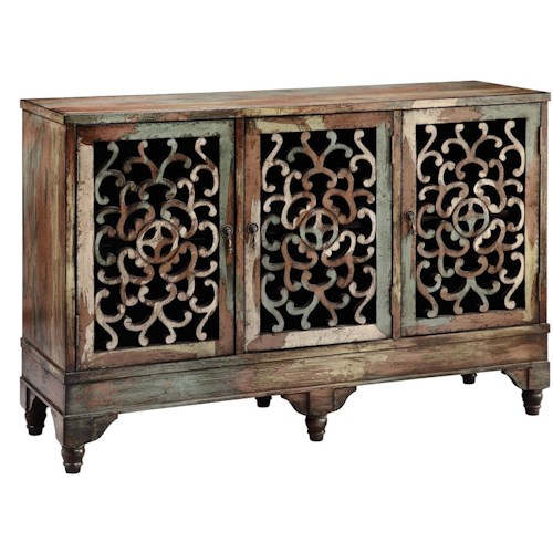 Morris Home Furnishings Cabinets 3-Door Accent Cabinet