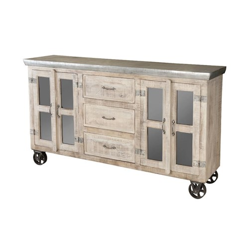 Morris Home Furnishings Cabinets 3-Drawer, 4-Door Bertram Cabinet