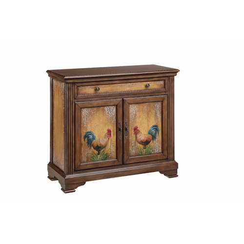 Morris Home Furnishings Cabinets Rooster Pattern Cabinet