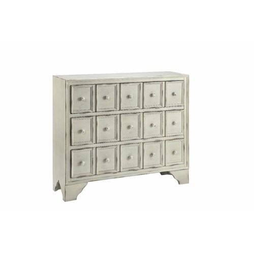 Morris Home Furnishings Cabinets 3-Drawer Cabinet in Distressed White
