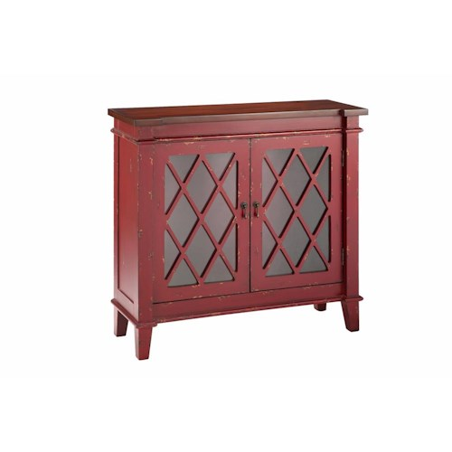 Morris Home Furnishings Cabinets 2-Glass Door Cabinet in Red