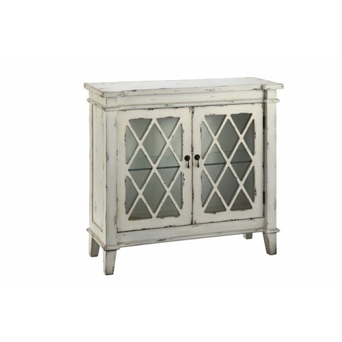 Morris Home Furnishings Cabinets 2-Glass Door Cabinet Antique White