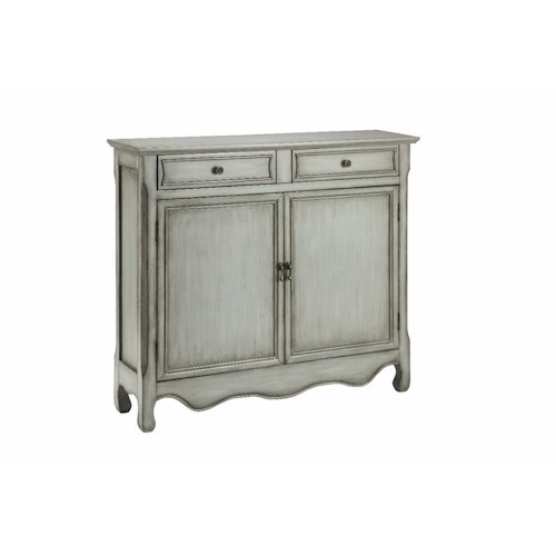 Morris Home Furnishings Cabinets Cupboard 2 Door, 2 Drawer in Vintage Cream