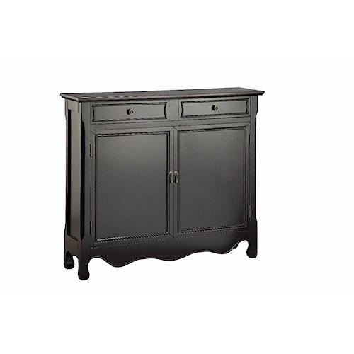Morris Home Furnishings Cabinets Cupboard 2 Door, 2 Drawer in Black