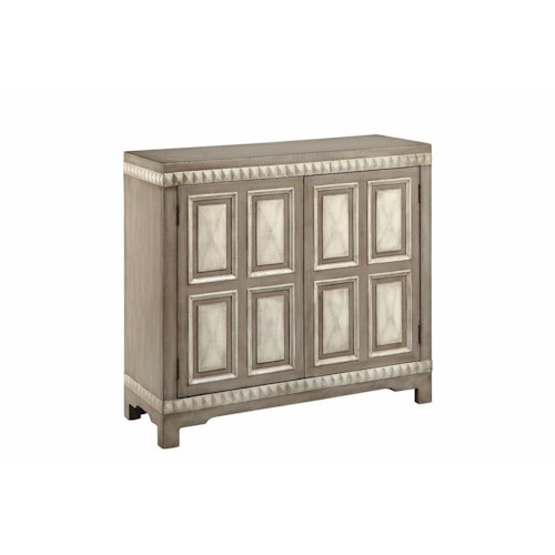 Morris Home Furnishings Cabinets 2-Door Cabinet with Raised Pyramid Detail