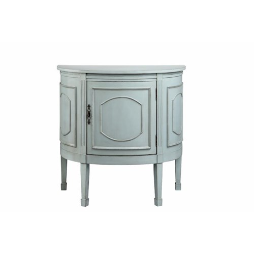 Morris Home Furnishings Cabinets 1 Door Demilune Console