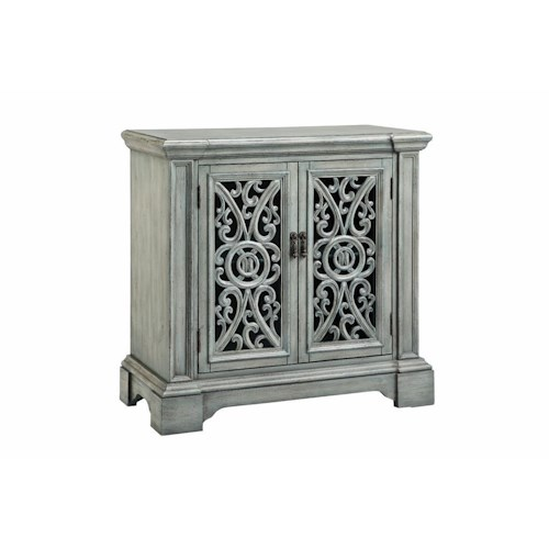 Morris Home Furnishings Cabinets 2 Carved Door Accent Cabinet