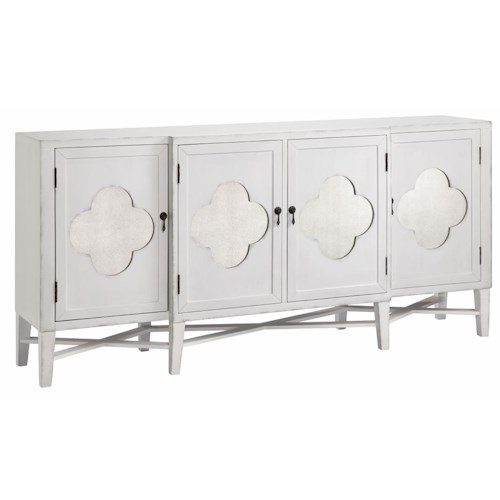 Morris Home Furnishings Cabinets 4-Door Quatrefoil Cabinet