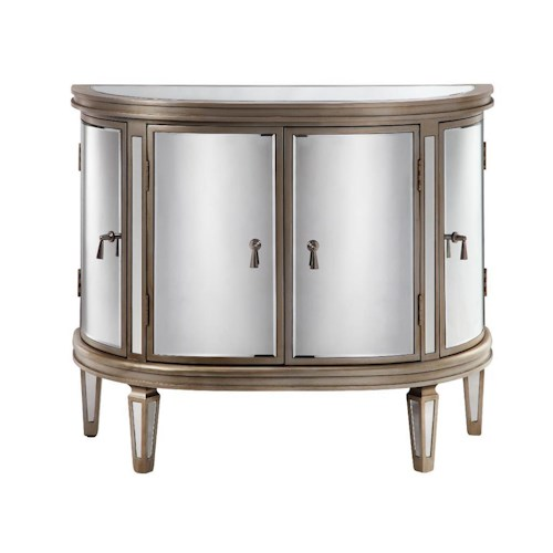 Morris Home Furnishings Cabinets Kingman Mirrored Cabinet