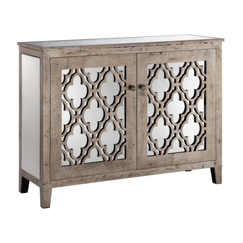 Morris Home Furnishings Cabinets Mirrored 2-Door Cabinet