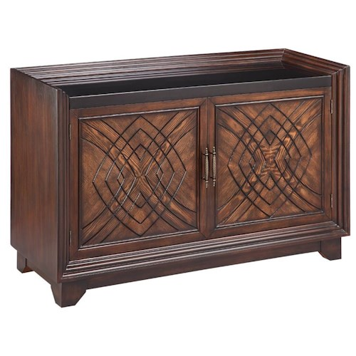 Morris Home Furnishings Cabinets Two-Door Barrington Accent Cabinet with Granite Top
