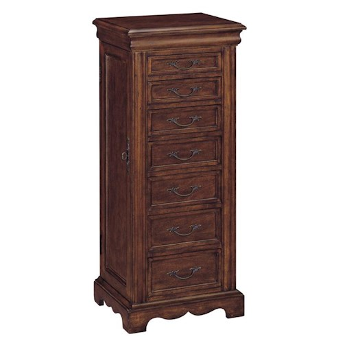 Morris Home Furnishings Cabinets Jewelry Armoire with 7 Drawers