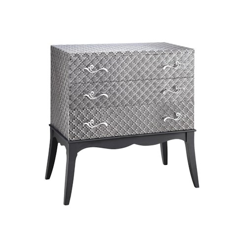 Morris Home Furnishings Chests Accent Chest with 3 Drawers and Silver Design