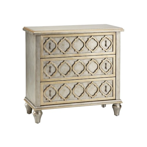 Morris Home Furnishings Chests Accent Chest 3 Drawer Raised Pattern