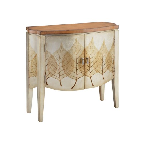 Stein World Chests Accent Cabinet with 2 Doors and Leaf Pattern
