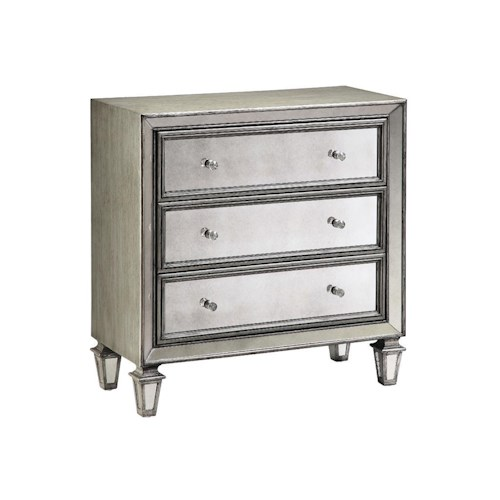 Stein World Chests Accent Chest with 3 Drawers and Mirrored Design