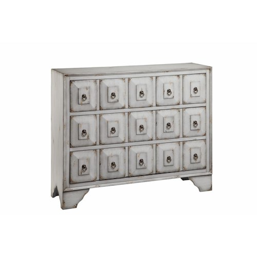 Morris Home Furnishings Chests 3 Drawer Chest in Aegean Mist