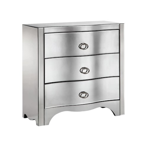 Morris Home Furnishings Chests Mirrored 3-Drawer Chest