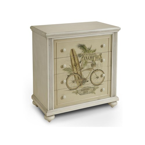 Morris Home Furnishings Chests High Tide 4-Drawer Chest