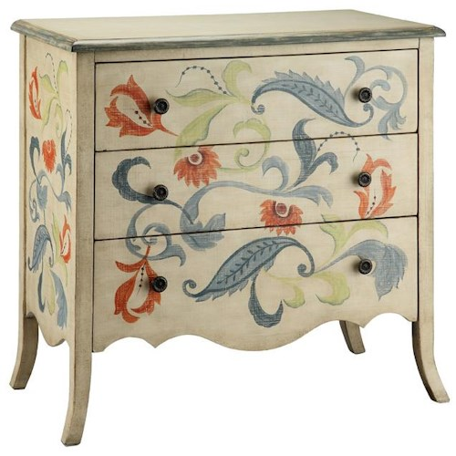 Stein World Chests Drawer Chest  w/ Floral and Leaf Accents