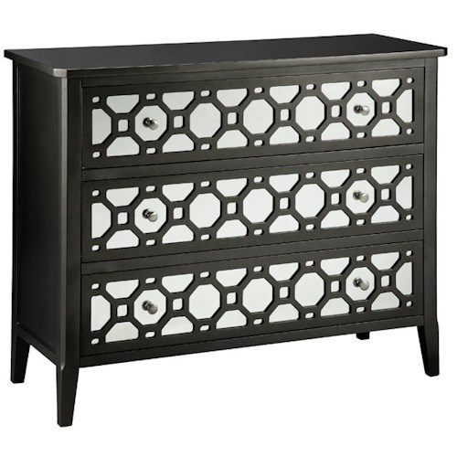 Stein World Chests 3 Drawer Chest w/ Mirrored Fronts
