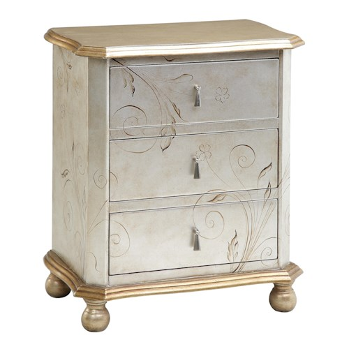 Stein World Chests Silver/Gold Chairside Chest