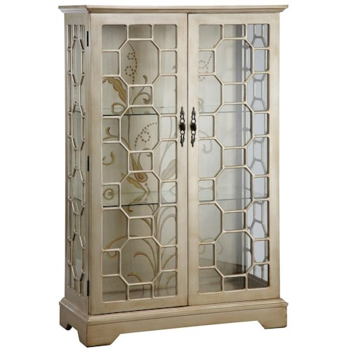 Stein World Curios Curio Cabinet w/ Glass Panel Doors