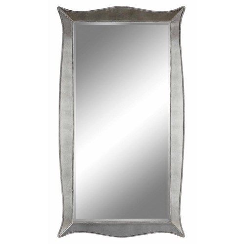Stein World Mirrors Marlena Floor Mirror with Bead Detailing