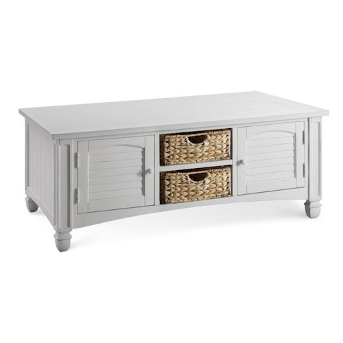 Morris Home Furnishings Casual - Nantucket Rectangular Cocktail Table with Storage