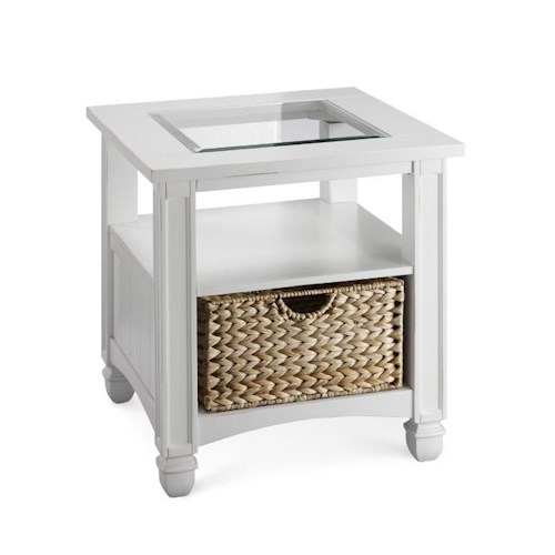 Stein World Casual - Nantucket Glass Top End Table with Storage