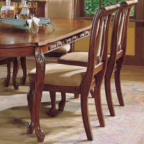 Morris Home Furnishings Harmony  Traditional Upholstered Seat Dining Side Chair