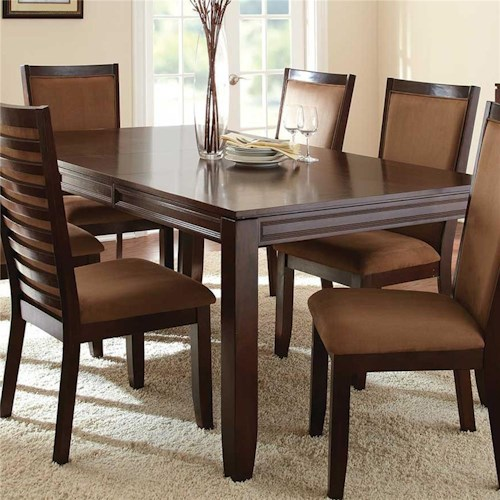 Steve Silver Cornell Formal Rectangular Dining Table with 18