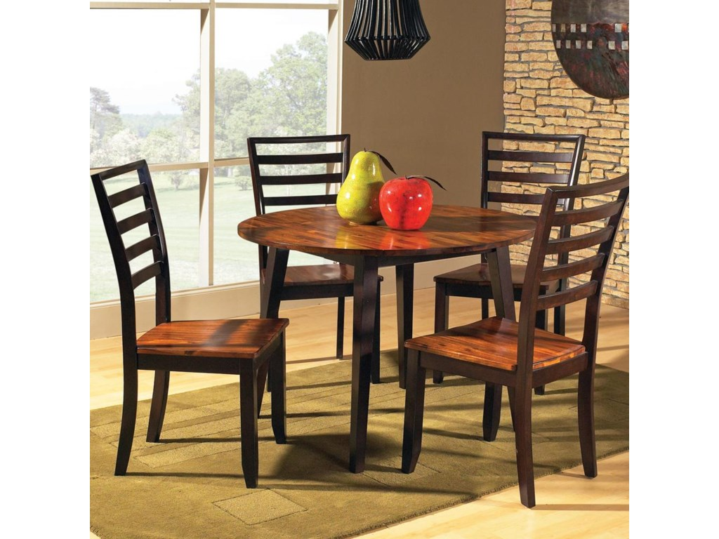 Drop Leaf Table Shown with Chairs