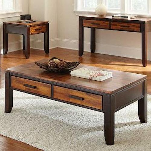 Morris Home Furnishings Abaco Two Drawer Rectangular Coffee Table