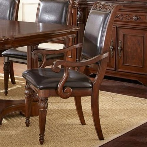 Vendor 3985 Alberta Bi-cast Leather Upholstered Arm Chair