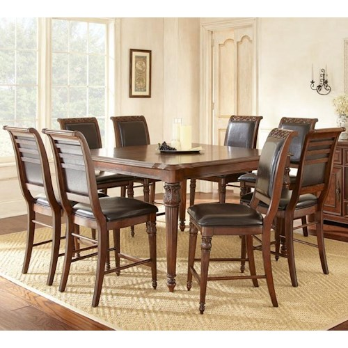 Morris Home Furnishings Alberta 9 Piece Counter Dining Set with 18