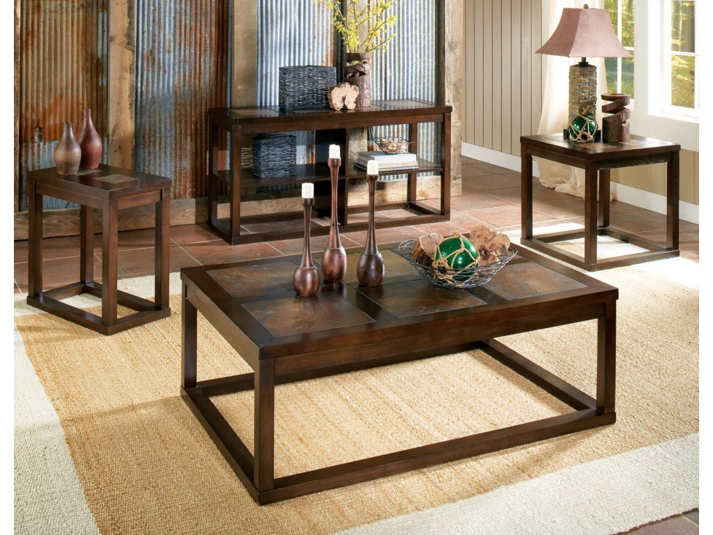 Shown with Cocktail Table, Sofa Table & End Table