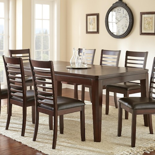 Morris Home Furnishings Allison Contemporary Dining Room Table w/ Extending Leaf