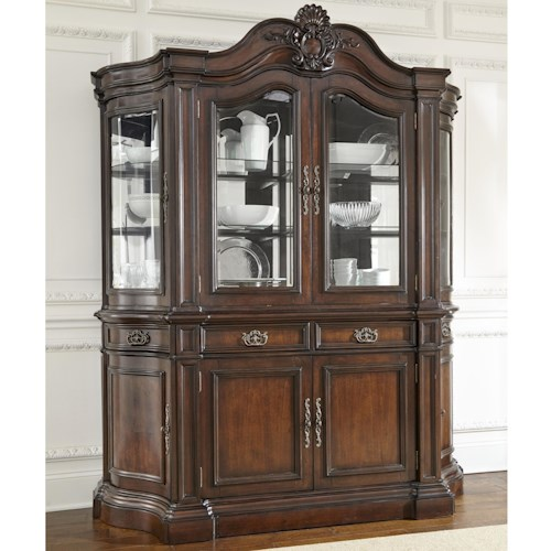 Morris Home Furnishings Angelina China Cabinet with Wine Storage