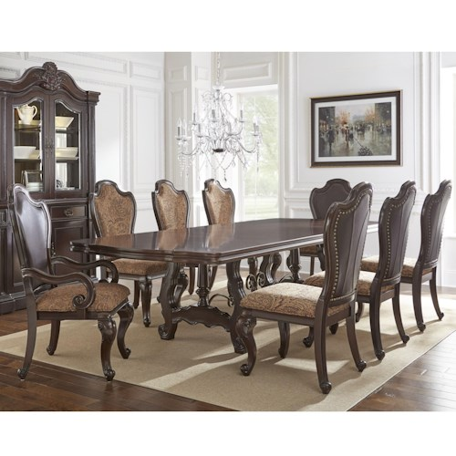 Steve Silver Angelina 9 Piece Traditional Dining Set